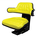 Universal Tractor Seat with Adjustable Suspension, Yellow