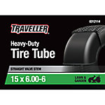 Traveller Lawn and Garden Inner Tube, 15x6.00-6 with TR-13 Valve Stem