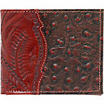 American West Men's Bi-Fold Wallet, Mahogany Brown