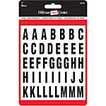 Hillman Black/White Packaged Letters and Numbers, 1 in.