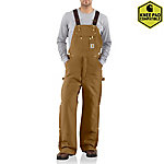 Carhartt® Men's Quilt Lined Zip To Thigh Bib Overalls