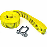 Traveller Winch Strap with Shackle, 2 in. x 12 ft., 3300 lb. Safe Work Load, Yellow, 2 in. x 12 ft.