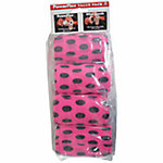 PowerFlex 4 in. Bandage, 15 ft., Black Dots on Neon Pink, Pack of 4