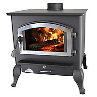 United States Stove Wood Stove with Blower, Large, EPA Certified