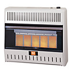 RedStone Dual Fuel Gas Infrared Heater with Thermostat, 30,000 BTU