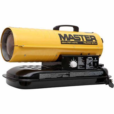 MASTER KEROSENE/DIESEL FORCED AIR HEATER, 75,000 BTU