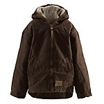 C.E. Schmidt Youth's Sanded/Washed Duck Sherpa-Lined Hooded Coat, Bark