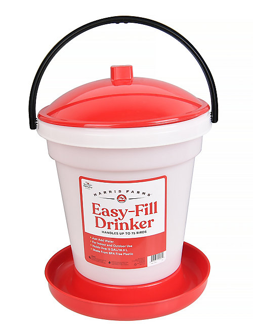 5 Gal. Easy-Fill Drinker Galvanized or Plastic Poultry Fountain - Tractor Supply Co.