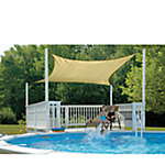 ShadeLogic™ SunShade Sail, 16 ft. x 16 ft. Square, Sand