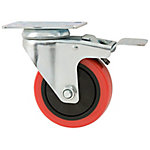 Titan Casters™ 4 in. Polyurethane Caster  Swivel with Brake