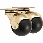 Titan Casters™ 2 in. Plate Hooded Caster Brass, 100 lb. Capacity