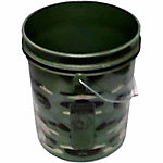 Fortiflex Plastic Pail, 5 gal. Capacity, Camouflage