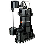 CountyLine Cast Iron Submersible Sump Pump with Vertical Switch, 1/3 HP