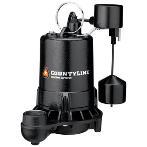 CountyLine Superior Cast Iron Submersible Sump Pump with ...