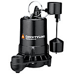 CountyLine® Superior Cast Iron Submersible Sump Pump with Vertical Switch, 1/2 HP