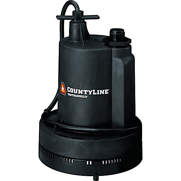 Submersible Thermoplastic Utility Pump, 1/3 HP