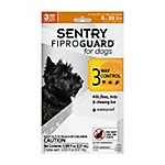 Sentry FiproGuard Dog Flea & Tick Spot-On, For Dogs 4 lb. to 22 lb., Pack of 3