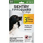 Sentry FiproGuard Dog Flea & Tick Squeeze-On, For Dogs Up To 23 to 44 lb., Pack of 3