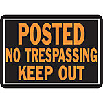 Hy-Ko Posted No Trespassing Keep Out Sign, 14 in. x 9-1/4 in.