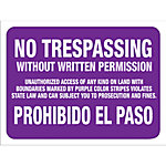 Hy-Ko No Trespassing Without Written Permission Sign, 14 in. x 9-1/4 in.