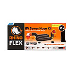 Camco RhinoFLEX 15 ft. Sewer Hose Kit with Swivel Fittings