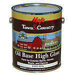 Majic Town & Country Oil Base High Gloss Paint for Exterior Barns, Homes, Roofs, and Fences, 1 gal., White