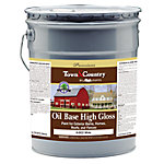 Majic Town & Country Oil Base High Gloss Paint for Exterior Barns, Homes, Roofs, and Fences, 5 gal., White