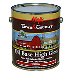Majic® Town & Country Oil Base High Gloss Paint for Exterior Barns, Homes, Roofs, and Fences, 1 gal., Classic Red