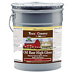 Majic Town & Country Oil Base High Gloss Paint for Exterior Barns, Homes, Roofs, and Fences, 5 gal., Classic Red