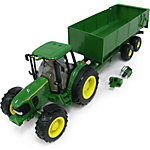 John Deere® 1:16 Big Farm 7430 Tractor with Dump Wagon