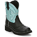 Justin Ladies' Gypsy Collection 8 in. Pull-On Boot, Black Deercow