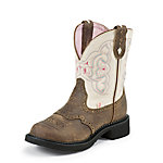 Justin Ladies' Gypsy Collection 8 in. Pull-On Boot, Barnwood Brown Cowhide