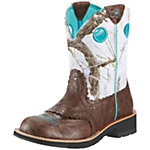 Ariat Women's Fatbaby Cowgirl Boot, Brown Snowflake