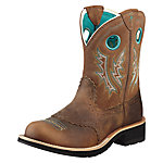 Ariat Women's Fatbaby Cowgirl Boot, Powdered Brown