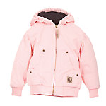 Berne® Toddler Girl's Sanded/Washed Duck Quilt-Lined Insulated Hooded Jacket