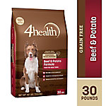 4health™ Grain Free Beef & Potato Formula for Adult Dogs, 30 lb. Bag