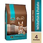 4health™ Grain Free Whitefish, Potato & Pea Formula for Adult Cats, 4 lb. Bag