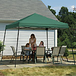 ShelterLogic® 12 ft. x 12 ft. 2-in-1 Pop Up Canopy, Slant Leg, Green Cover, Screen Kit, Anchor Bags