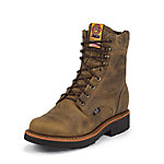 Justin Men's 8 in. Steel Toe J-Max Boot, Rugged Tan Gaucho