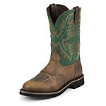 Justin Men's 11 in. Rugged Tan Original Stampede Work Boot