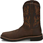 Justin Men's 11 in. Cowhide Waterproof Steel Toe Stampede Boot, Rugged Tan