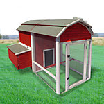 Precision Old Red Barn Chicken Coop, 8 Chicken Capacity
