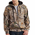 Carhartt® Men's Mid-Weight Work Camo Hooded Zip Front Sweatshirt