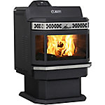 Ashley Bay Front Pellet Stove with Pedestal LG Hopper