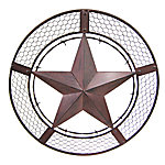 Red Shed™ Metal Wall Star with Chicken Wire