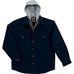C.E. Schmidt® Men's Hooded Canvas Shirt Jacket, Black Iris