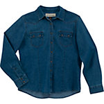 Bit & Bridle™ Ladies' Long Sleeve Western Denim, Dark Navy
