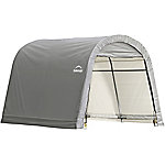 ShelterLogic Shed-in-a-Box 10 ft. x 10 ft. x 8 ft. RoundTop Storage Shed, Gray