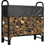 ShelterLogic® Firewood Rack-in-a-Box Heavy Duty Rack with Cover, 4 ft.