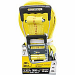 SmartStraps® 30 ft. L Yellow Premium Ratchet X Tie Down, 3,333 lb. Safe Work Load